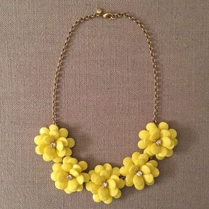 J. Crew Necklace with Yellow Flowers & Gold Chain